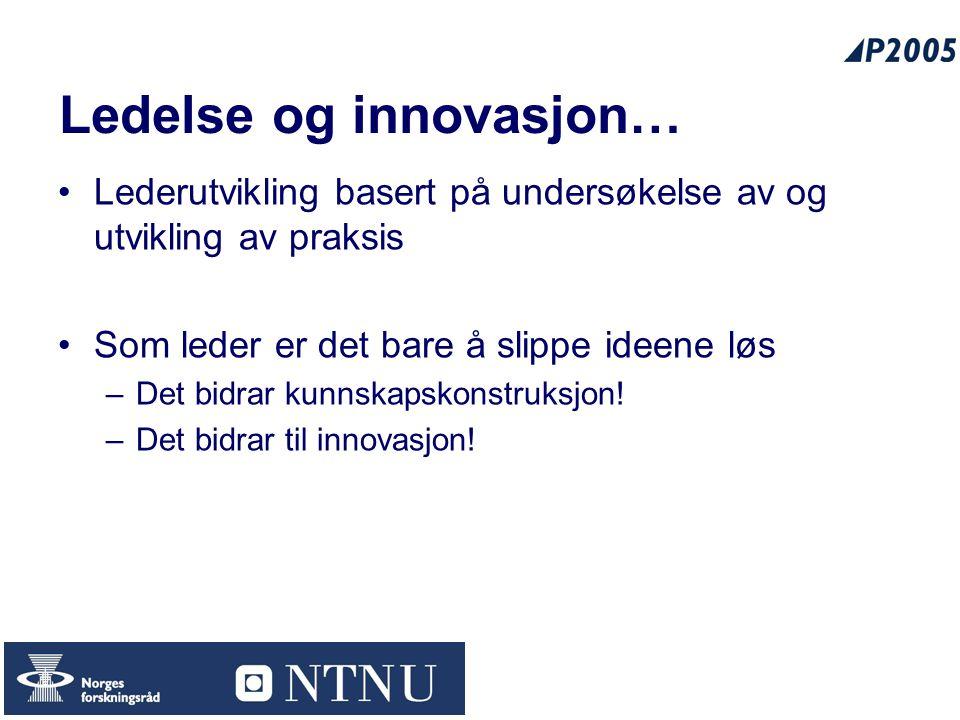 Ledelse og innovasjon…