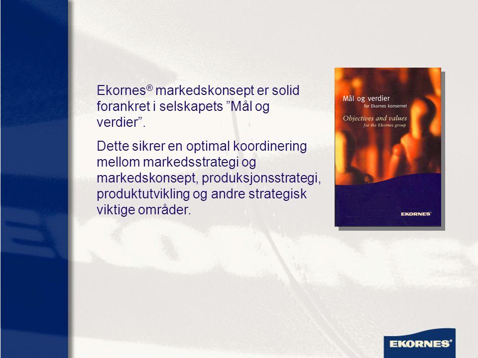 Ekornes® markedskonsept er solid forankret i selskapets Mål og verdier .