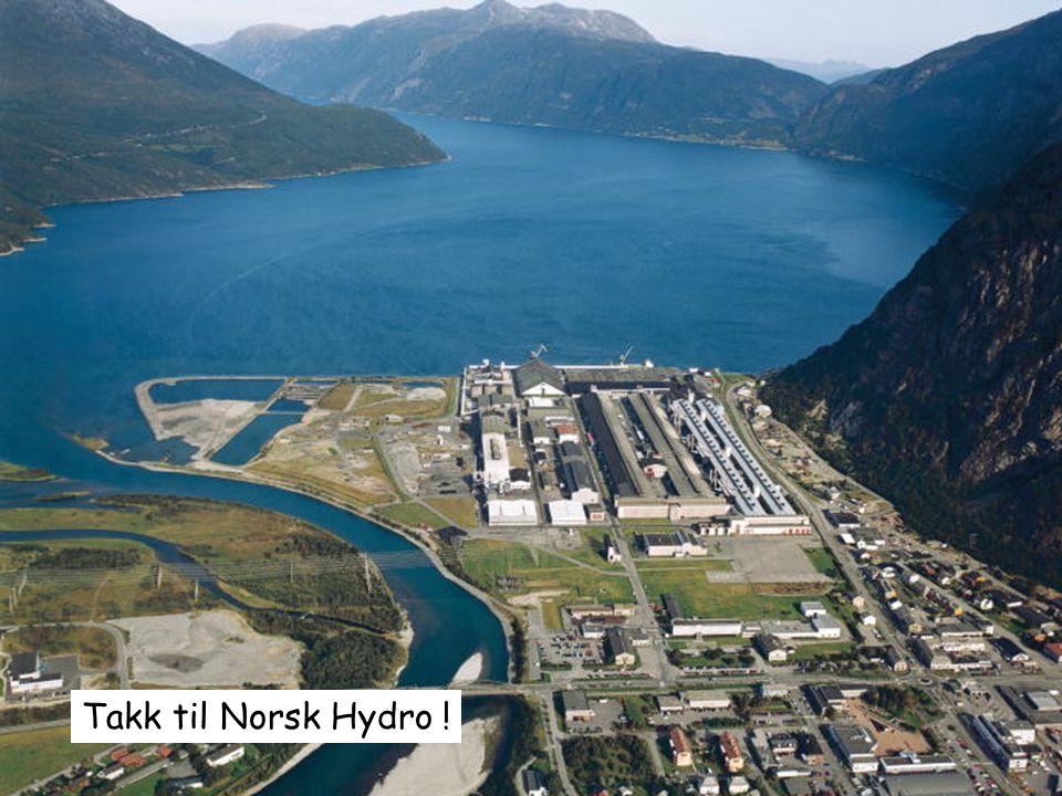 Takk til Norsk Hydro ! www.produksjonslogistikk.no
