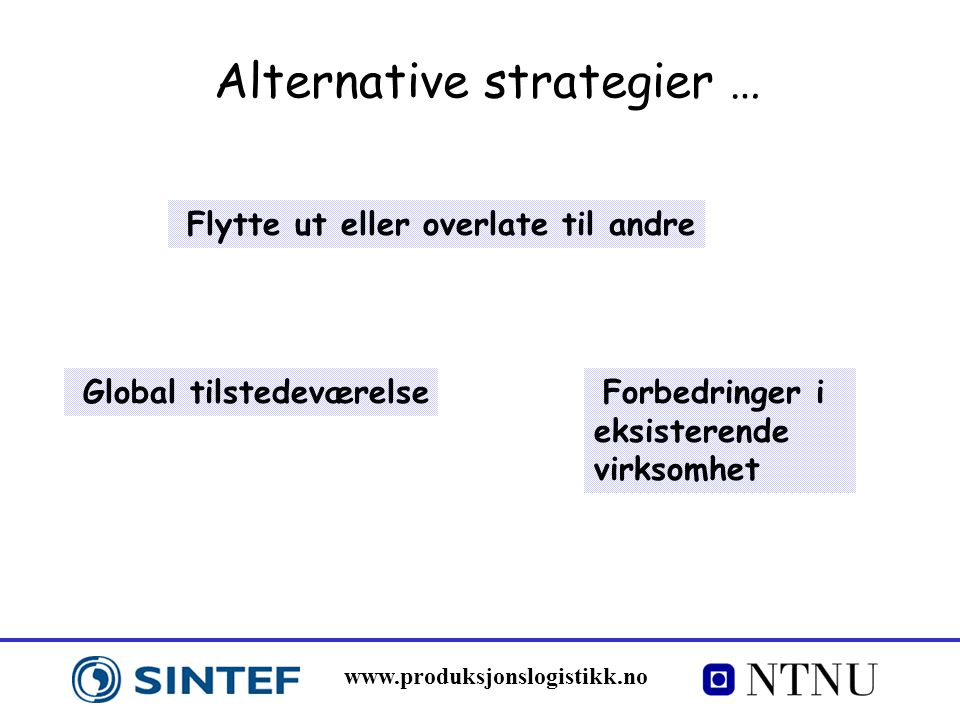 Alternative strategier …