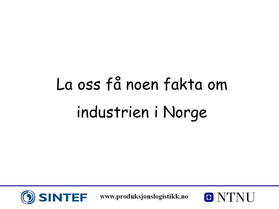 La oss få noen fakta om industrien i Norge