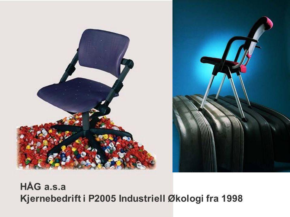 HÅG a.s.a Kjernebedrift i P2005 Industriell Økologi fra 1998