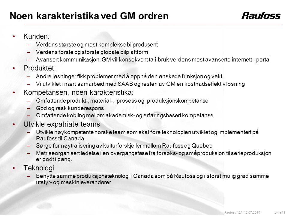 Noen karakteristika ved GM ordren