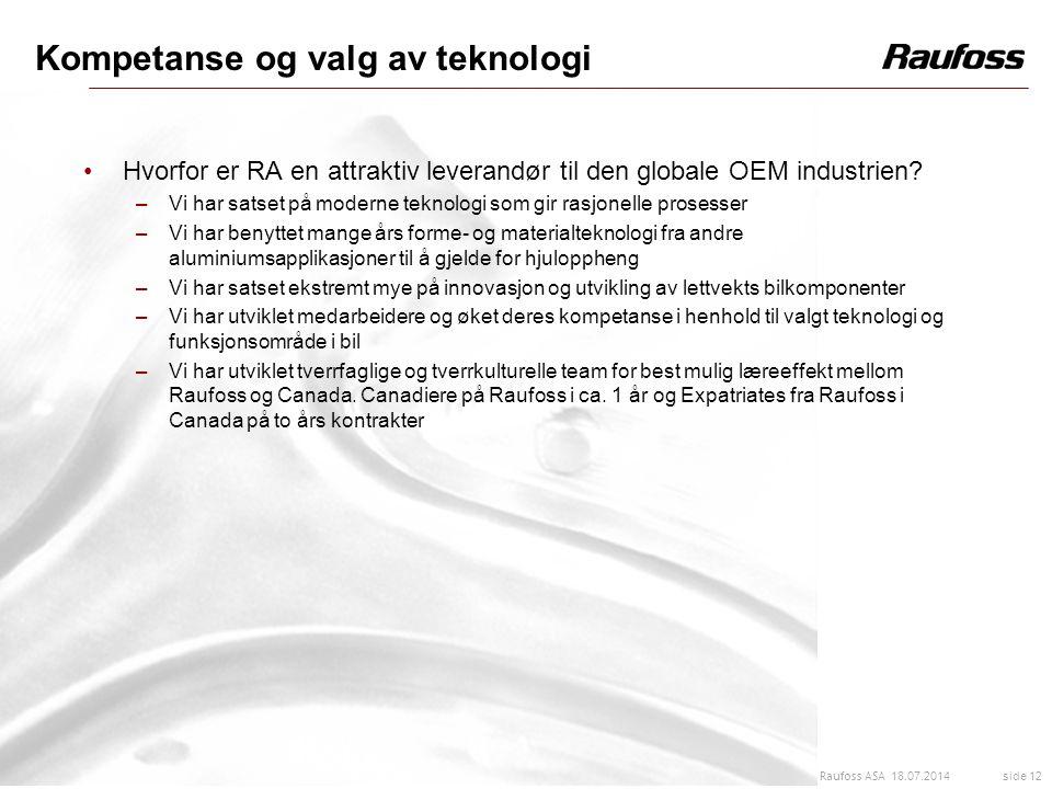 Kompetanse og valg av teknologi