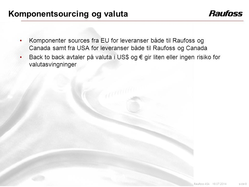 Komponentsourcing og valuta