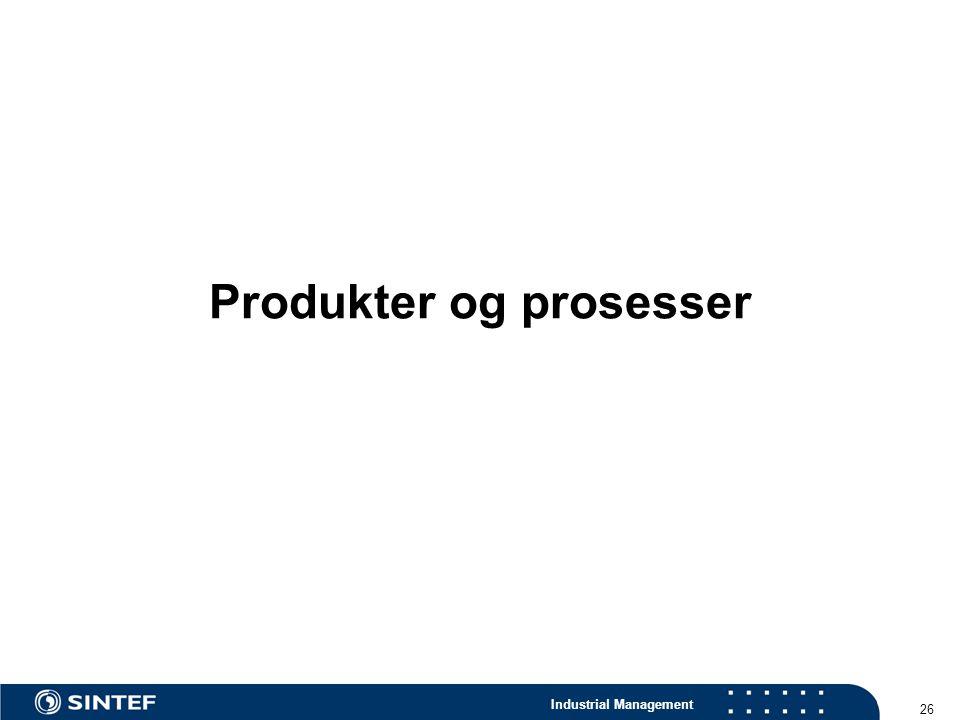 Produkter og prosesser