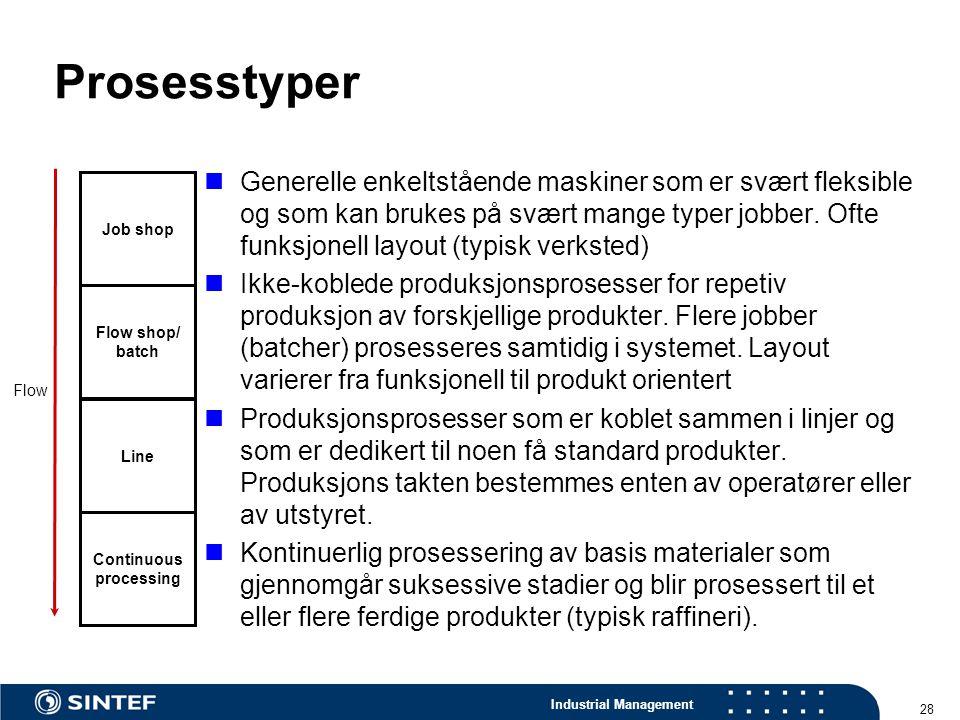 Prosesstyper