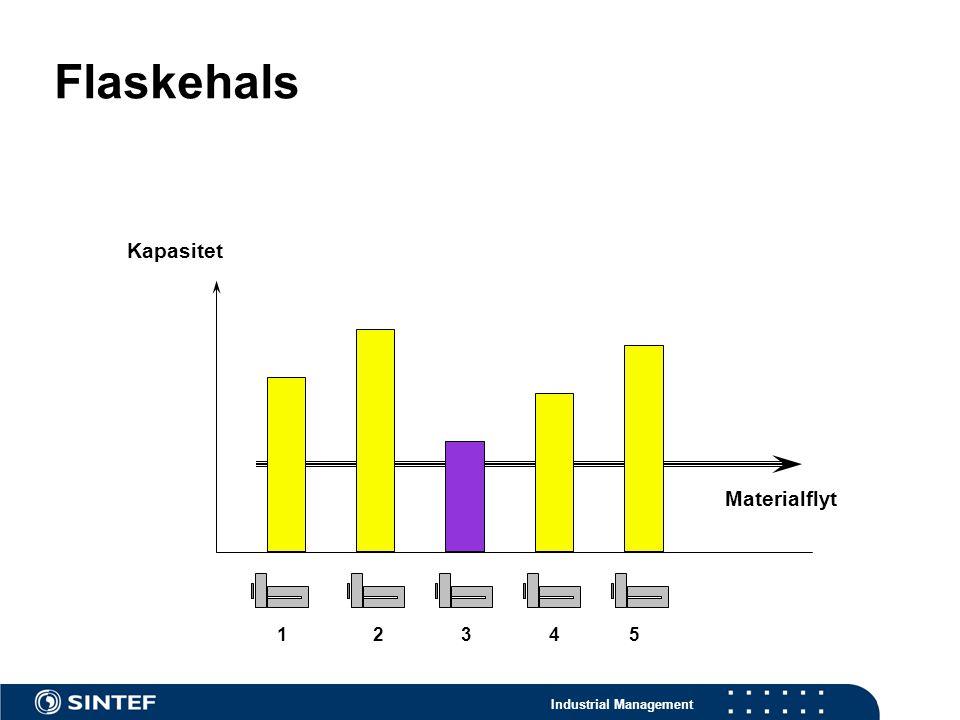 Flaskehals Kapasitet Materialflyt 1 2 3 4 5 Eksempler: