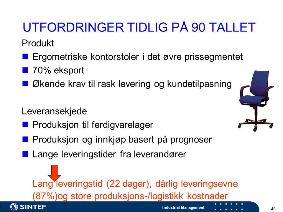 UTFORDRINGER TIDLIG PÅ 90 TALLET