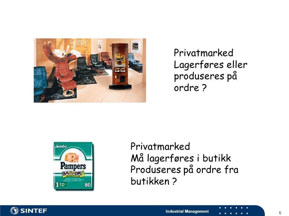 Privatmarked Lagerføres eller produseres på ordre .