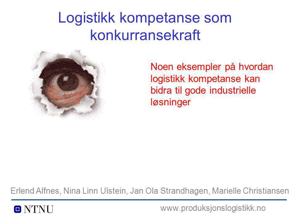 Logistikk kompetanse som konkurransekraft