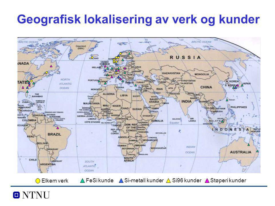 Geografisk lokalisering av verk og kunder