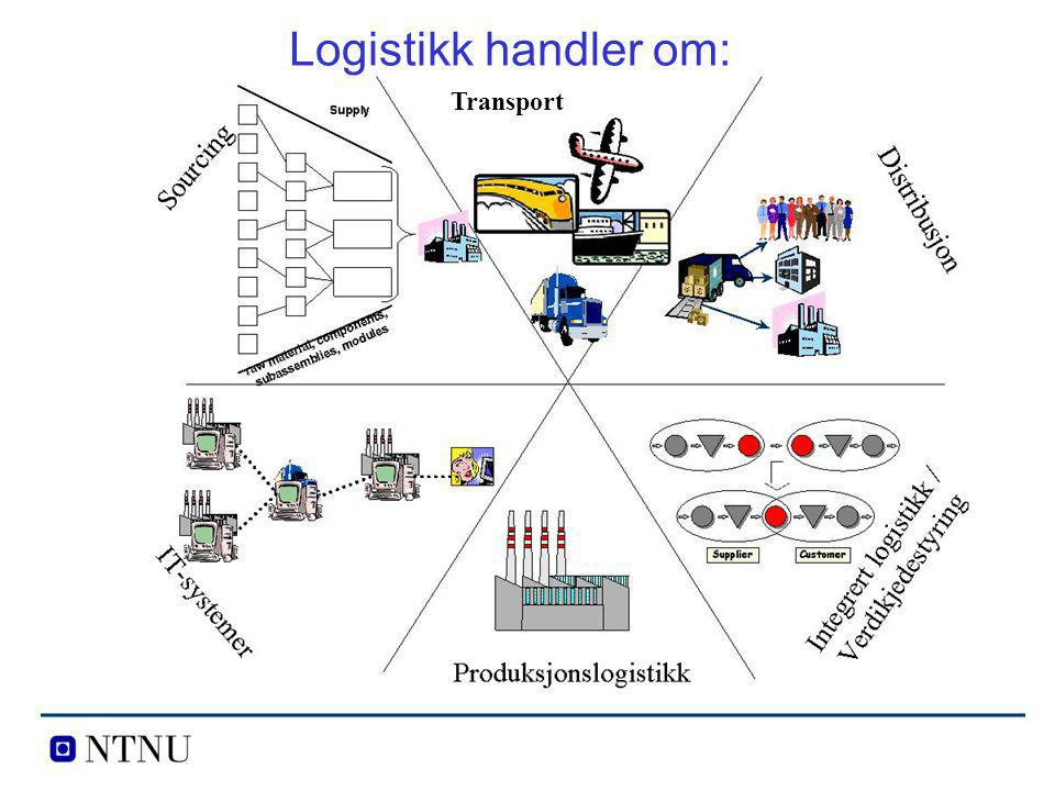 Logistikk handler om: Transport
