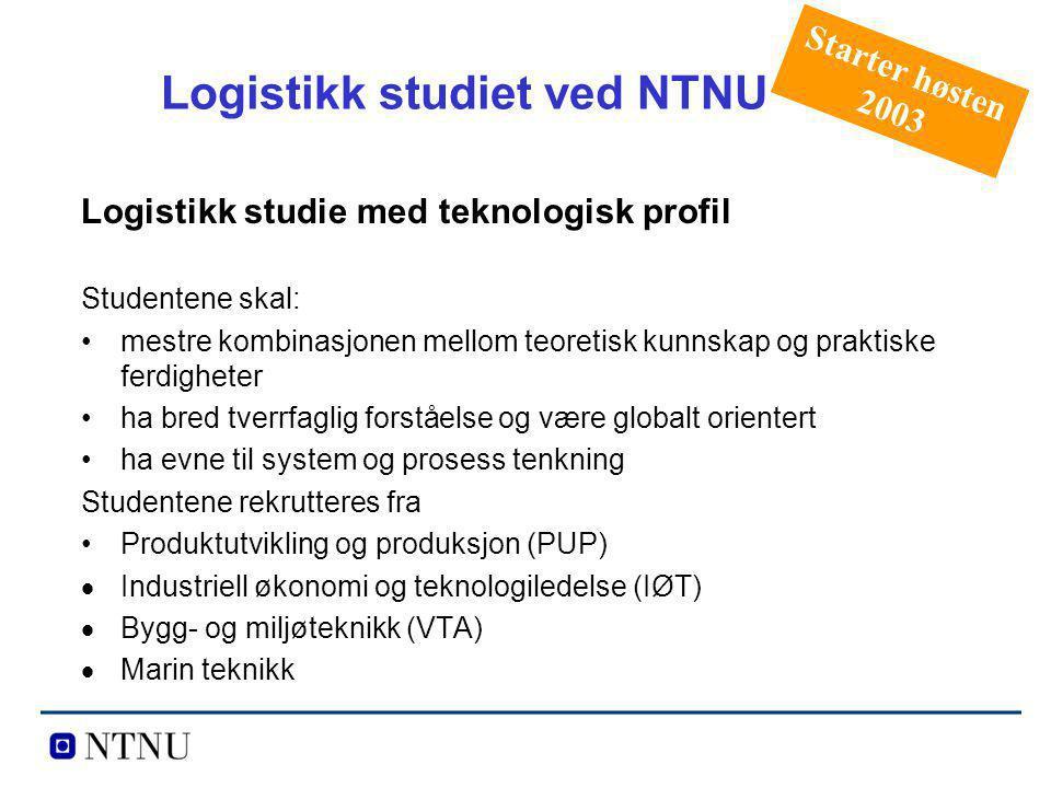 Logistikk studiet ved NTNU