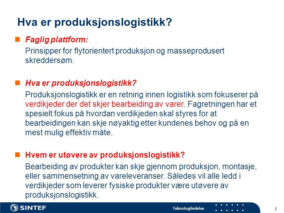 Hva er produksjonslogistikk
