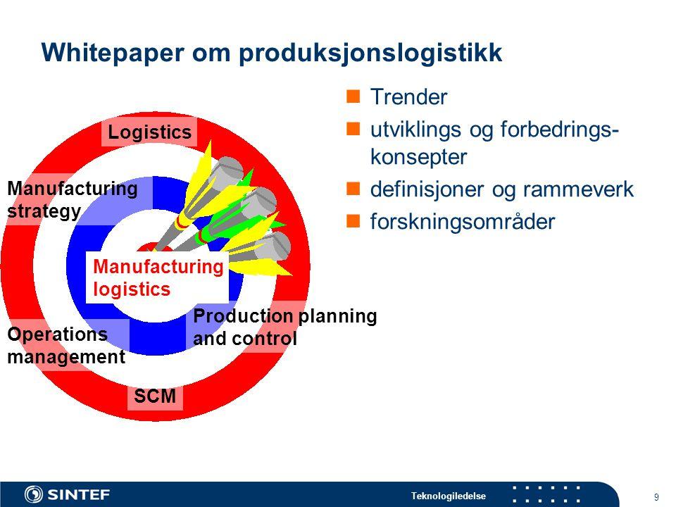 Whitepaper om produksjonslogistikk
