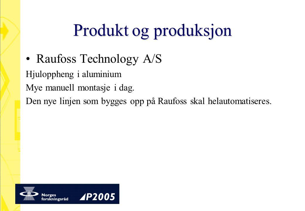 Produkt og produksjon Raufoss Technology A/S Hjuloppheng i aluminium
