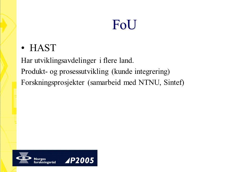 FoU HAST Har utviklingsavdelinger i flere land.