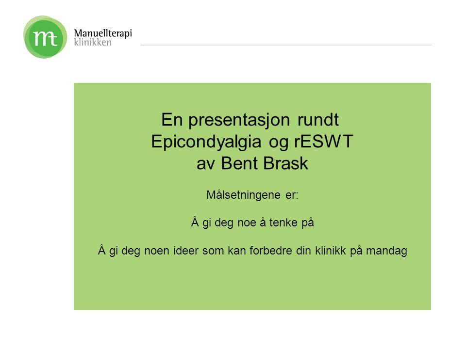 Epicondyalgia og rESWT av Bent Brask