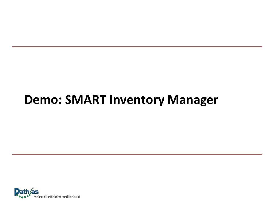 Demo: SMART Inventory Manager