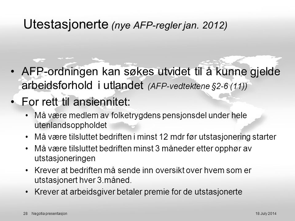 regler for afp