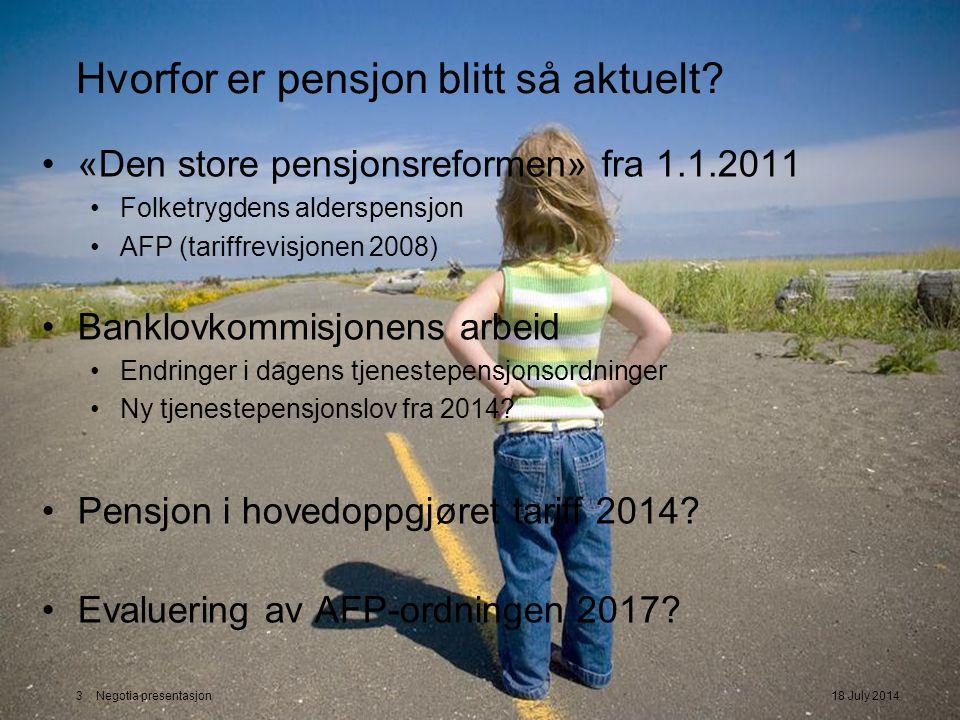 Hvorfor er pensjon blitt så aktuelt
