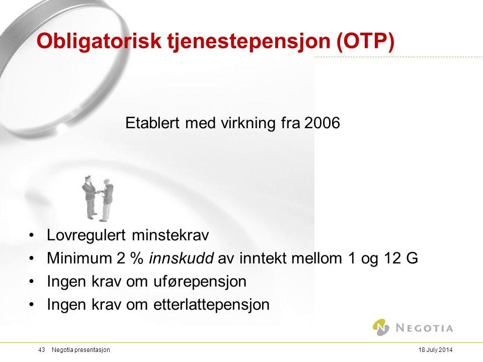 Obligatorisk tjenestepensjon (OTP)