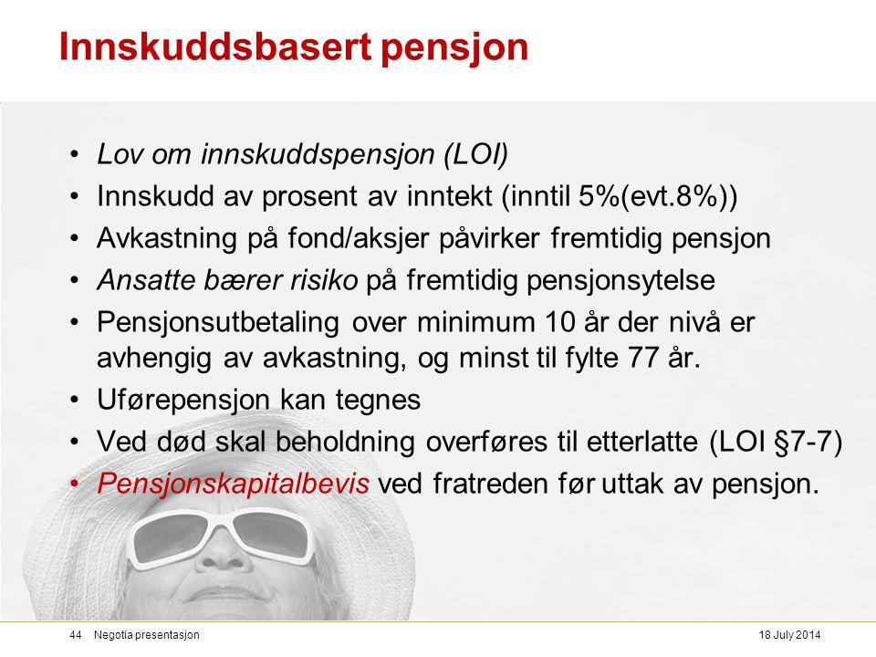 Innskuddsbasert pensjon