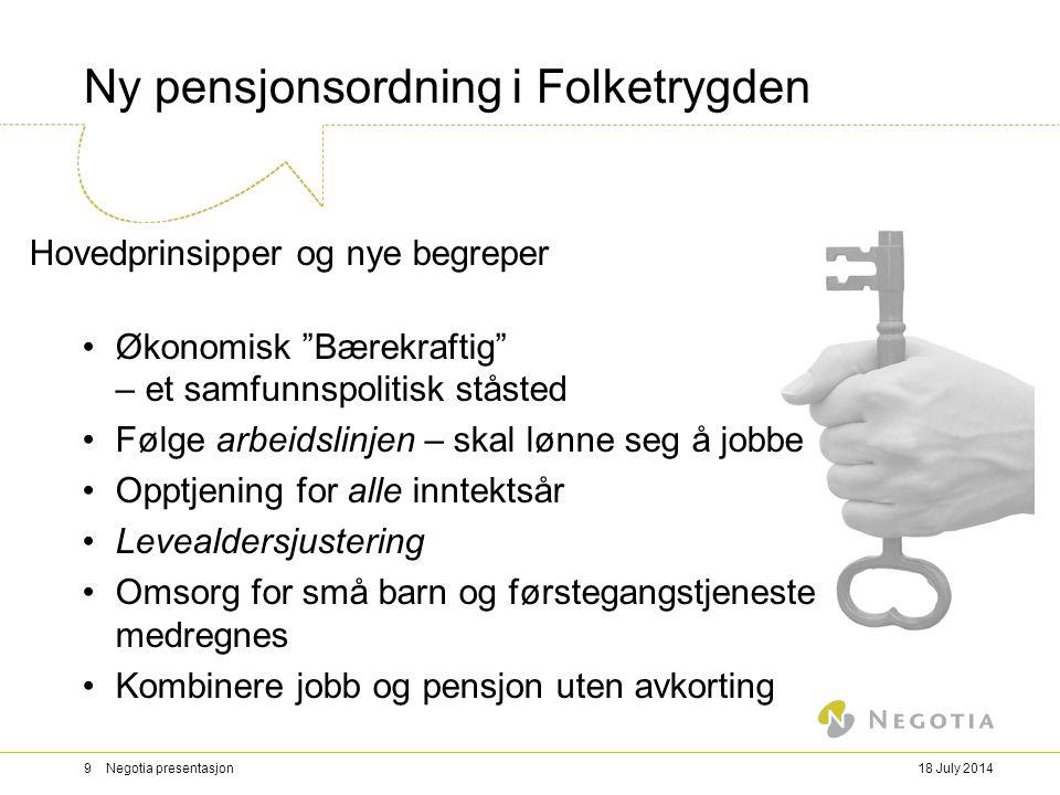 Ny pensjonsordning i Folketrygden