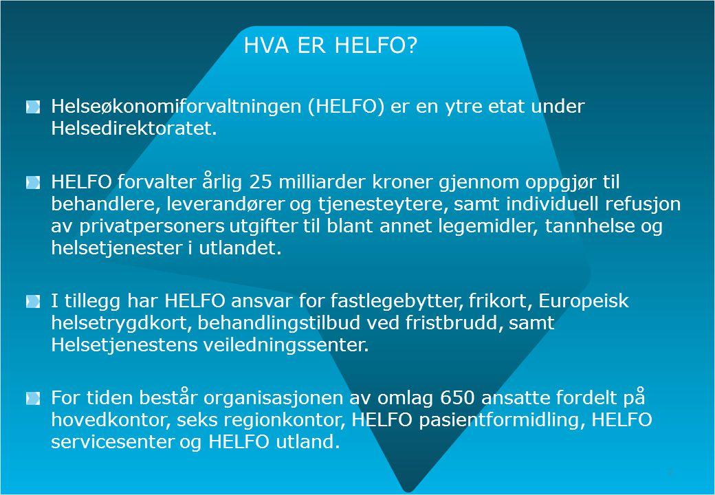 27.01.12 HVA ER HELFO Helseøkonomiforvaltningen (HELFO) er en ytre etat under Helsedirektoratet.