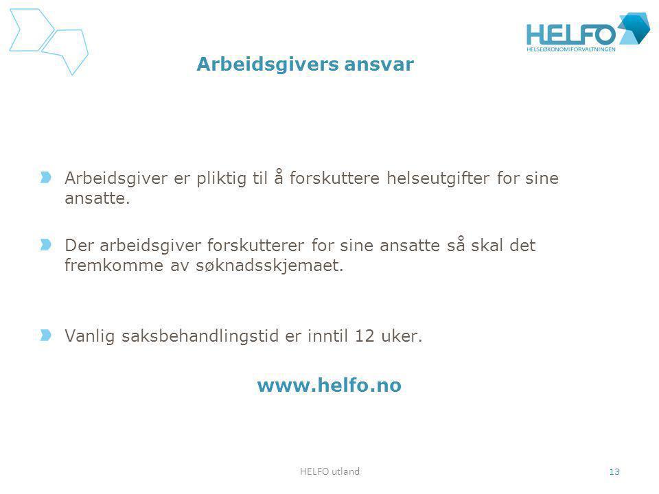 Arbeidsgivers ansvar www.helfo.no