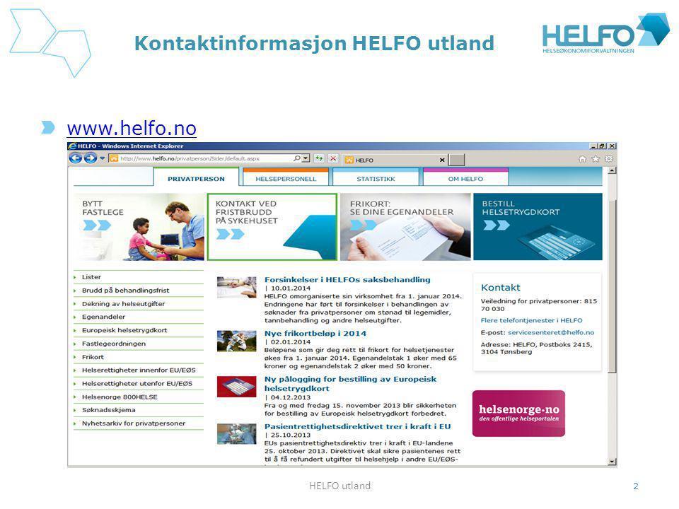 Kontaktinformasjon HELFO utland