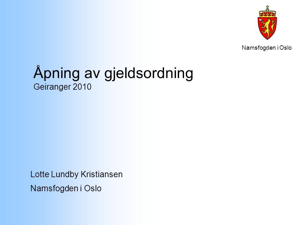 Åpning av gjeldsordning Geiranger 2010