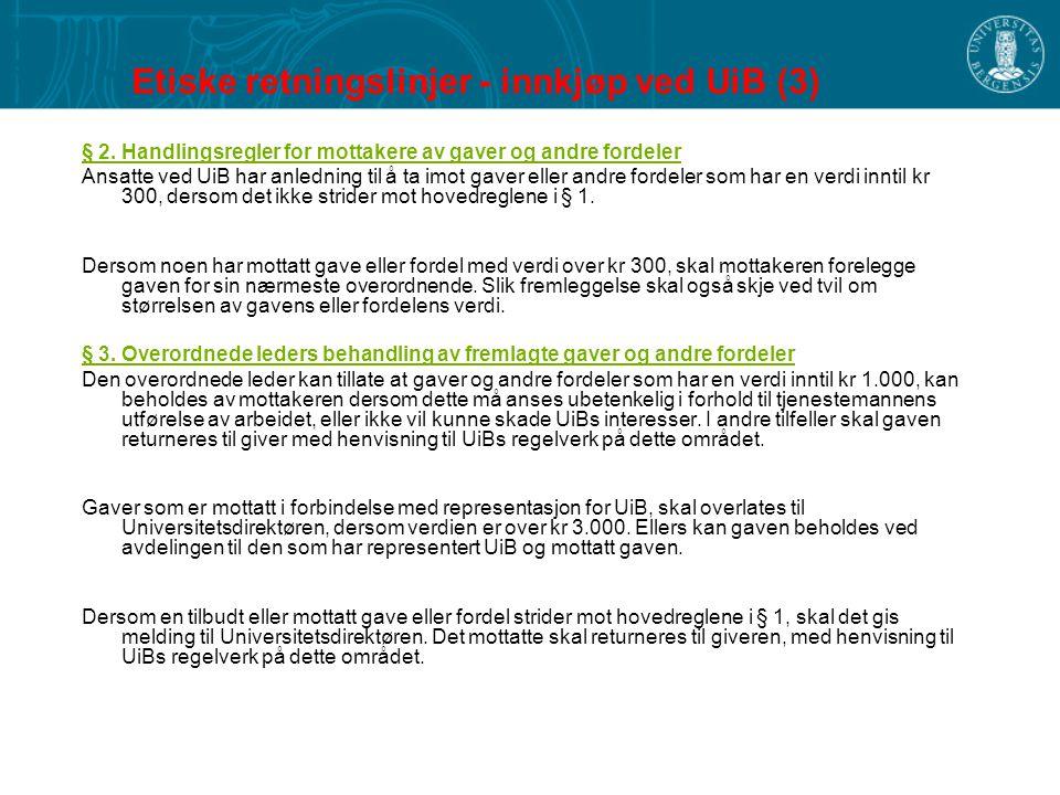 Etiske retningslinjer - innkjøp ved UiB (3)