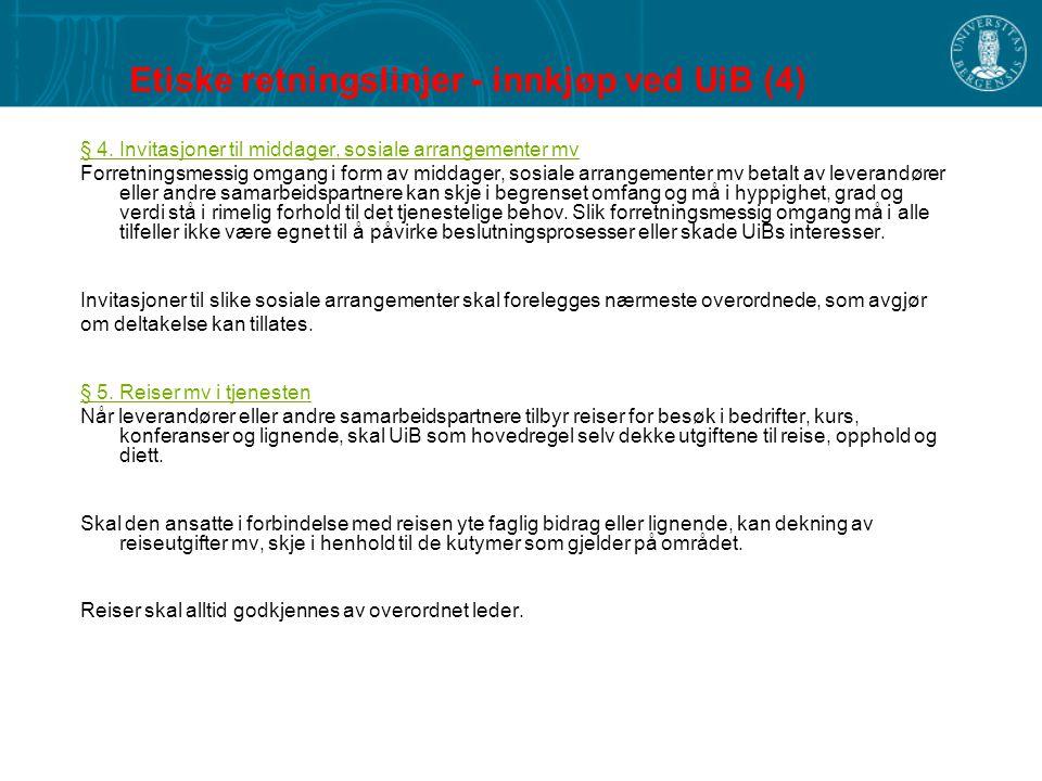 Etiske retningslinjer - innkjøp ved UiB (4)