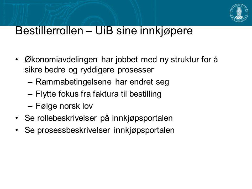 Bestillerrollen – UiB sine innkjøpere