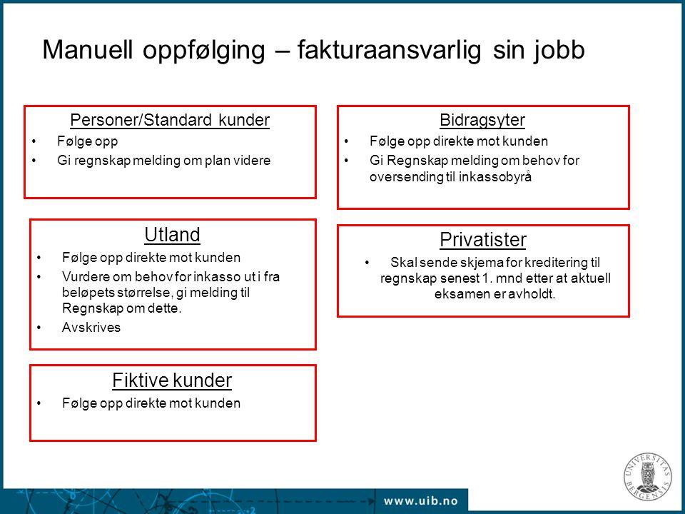 Manuell oppfølging – fakturaansvarlig sin jobb