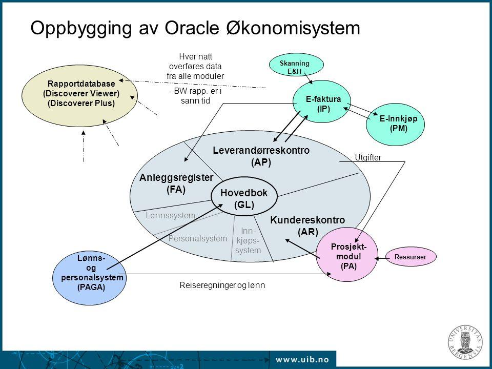 Oppbygging av Oracle Økonomisystem