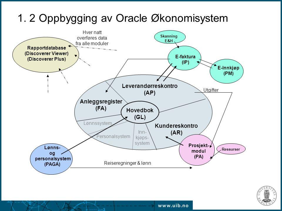1. 2 Oppbygging av Oracle Økonomisystem