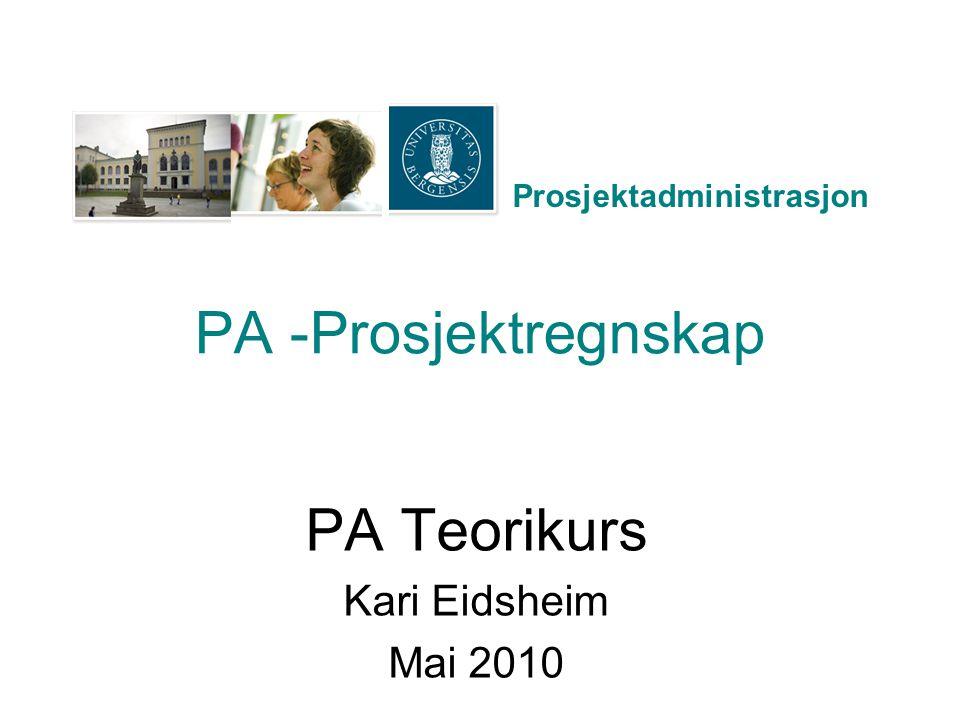 PA Teorikurs Kari Eidsheim Mai 2010