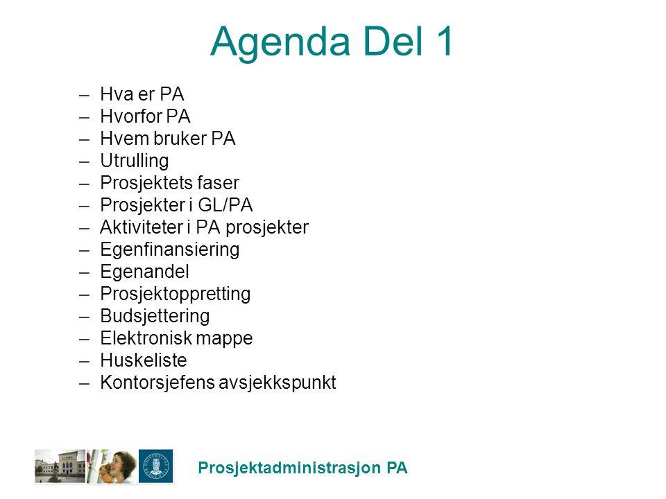 Agenda Del 1 Hva er PA Hvorfor PA Hvem bruker PA Utrulling
