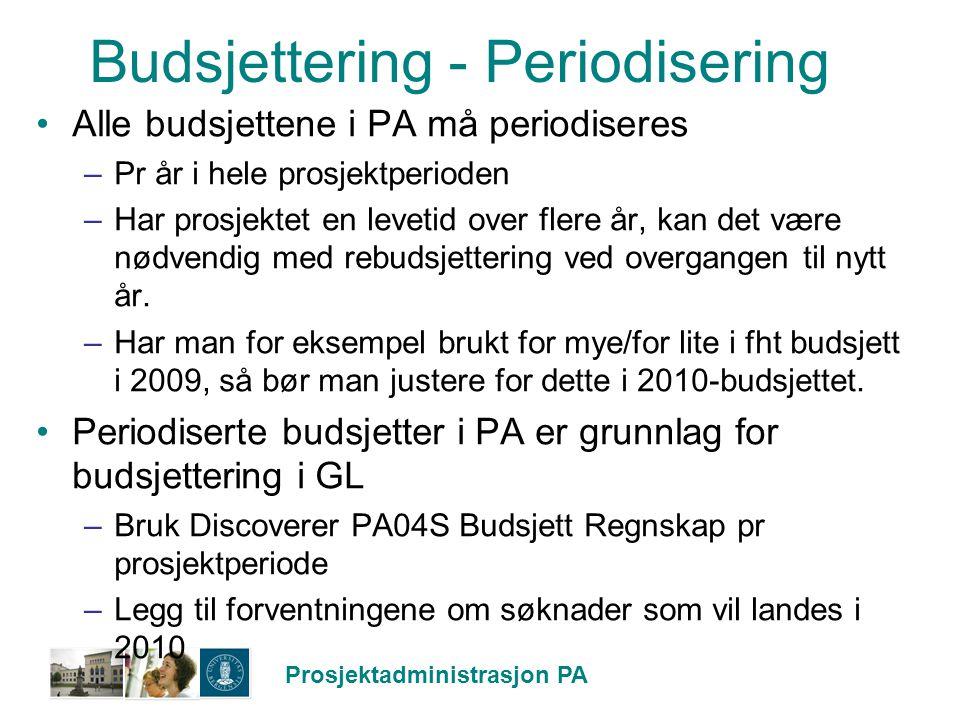 Budsjettering - Periodisering