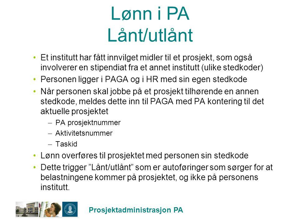 Lønn i PA Lånt/utlånt
