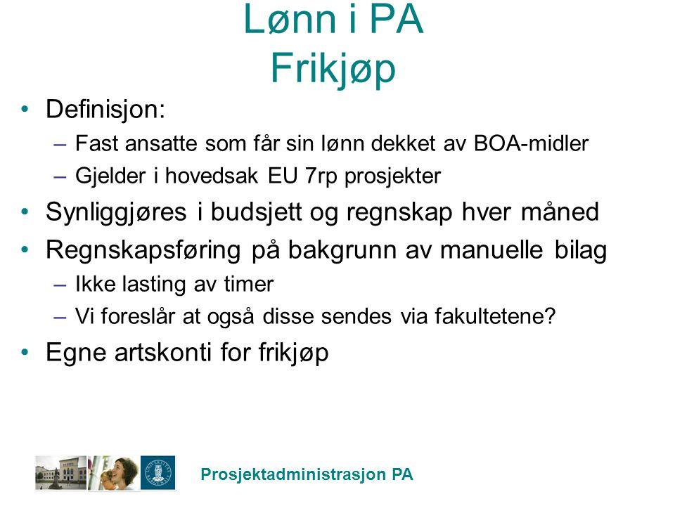 Lønn i PA Frikjøp Definisjon: