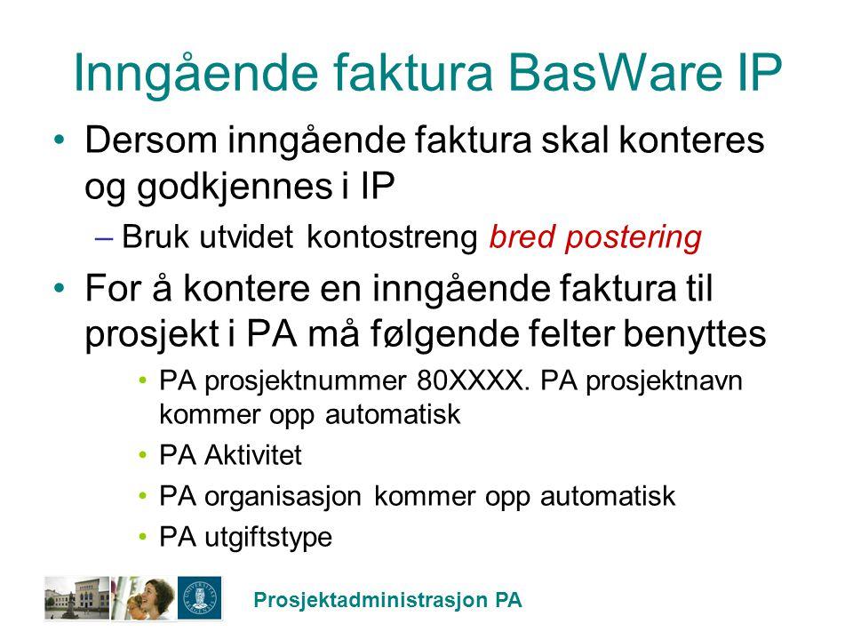 Inngående faktura BasWare IP