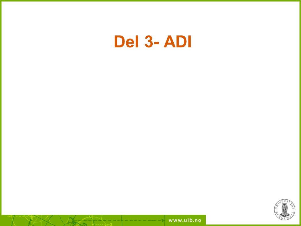 Del 3- ADI
