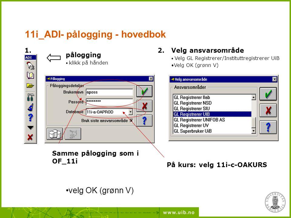 11i_ADI- pålogging - hovedbok