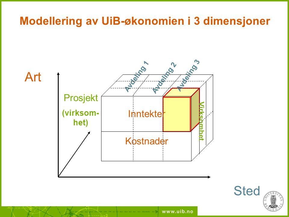 Modellering av UiB-økonomien i 3 dimensjoner