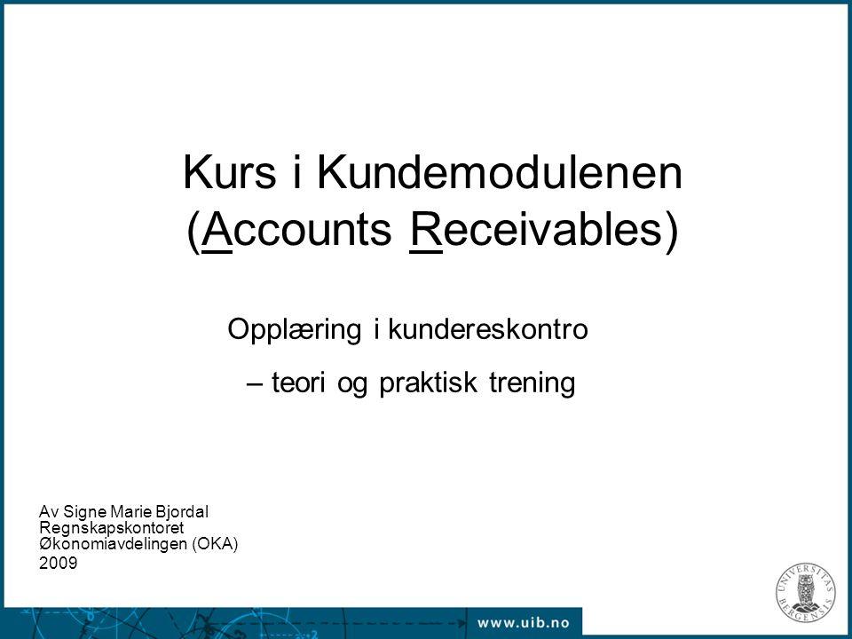 Kurs i Kundemodulenen (Accounts Receivables)