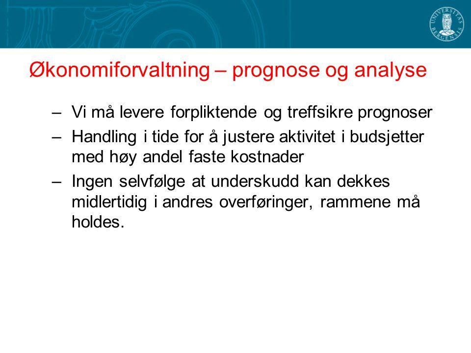 Økonomiforvaltning – prognose og analyse